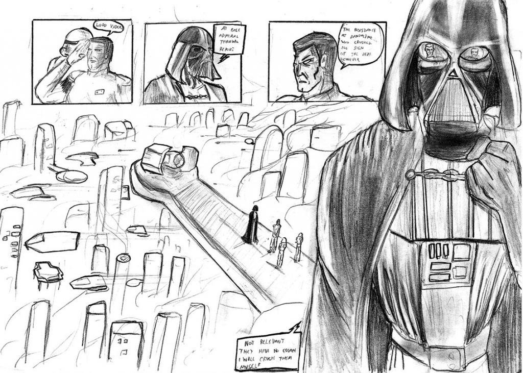 Vader and Thrawn plans a jedi extermination
