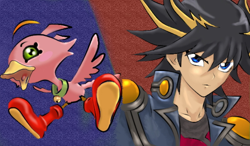 Yusei and Sonic Chick