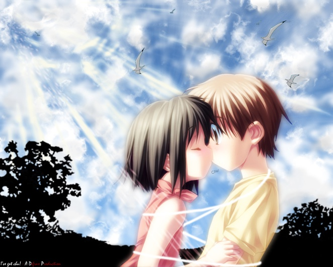 wallpapers anime. Anime Kiss. Anime Kiss