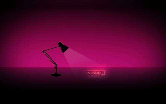 spotlight typography lamp vignette