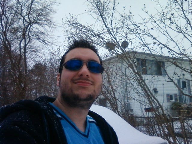Me with shades on during snow fall. lol