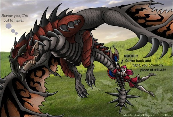Rathalos Flys Away Again From Mhdude Hosted By