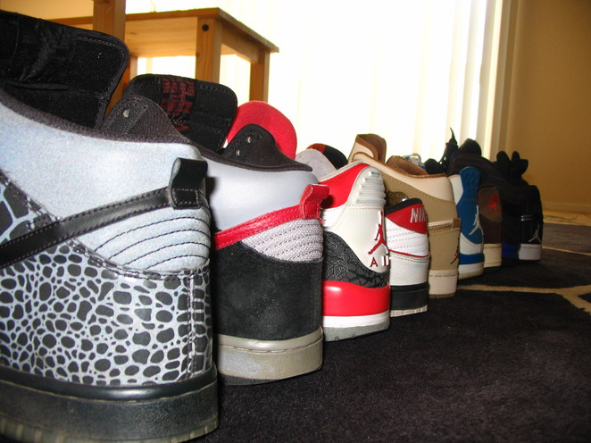 Most of my shoes (damn I love them).
