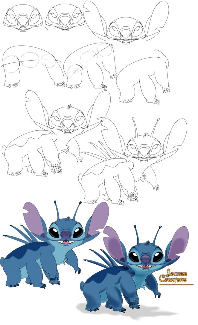 stitch_being_cute_drawing_progress_displ