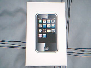The front of the box of the iPhone Mini.