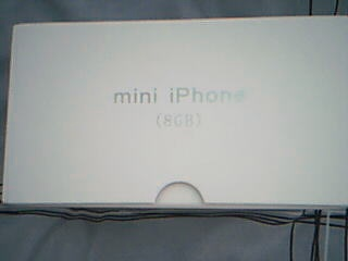 The side of the box of the iPhone Mini.