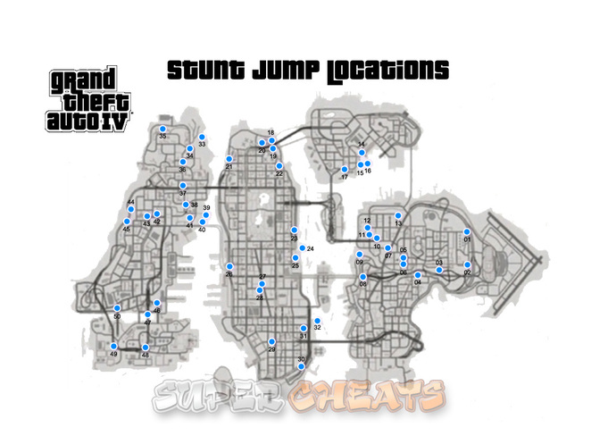 GTA 4 Stunt Jump Map