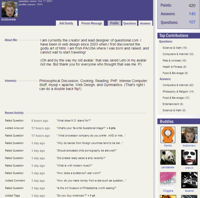 A members profile