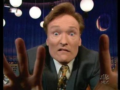 Conan O'Brien doing one of his many funny faces