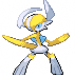 A fusion of Gallade, Absol, and Manetric.