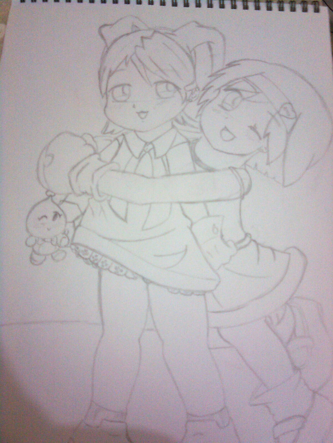 cartoon girl and boy hugging. Girl+and+oy+hugging+anime