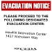 Evacuation Notice Replica