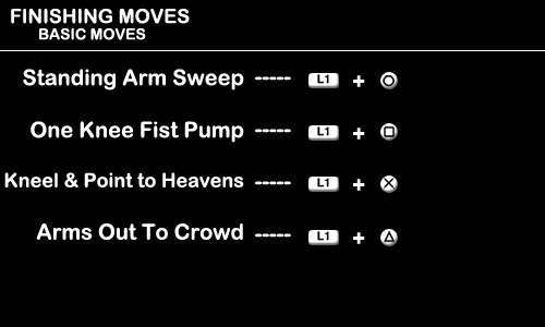 Finishing Moves - Basic Moves