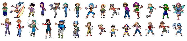 Pokemon x And y Trainer Class Pokemon Trainer Sprites