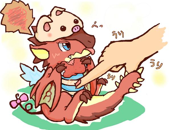 M Tigrex Tail Rathalos Baby Cute Rel...