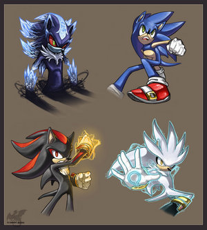 Pics For > Shadow The Hedgehog Vs Mephiles The Dark