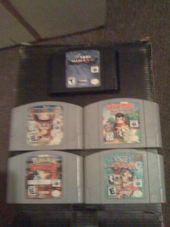5 of my N64 games.