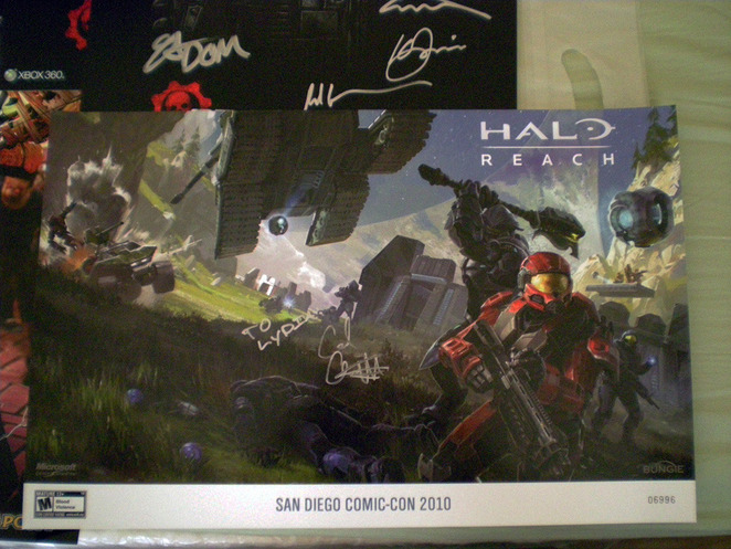 Halo: Reach - signed