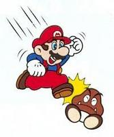 Image result for mario jumping on goomba