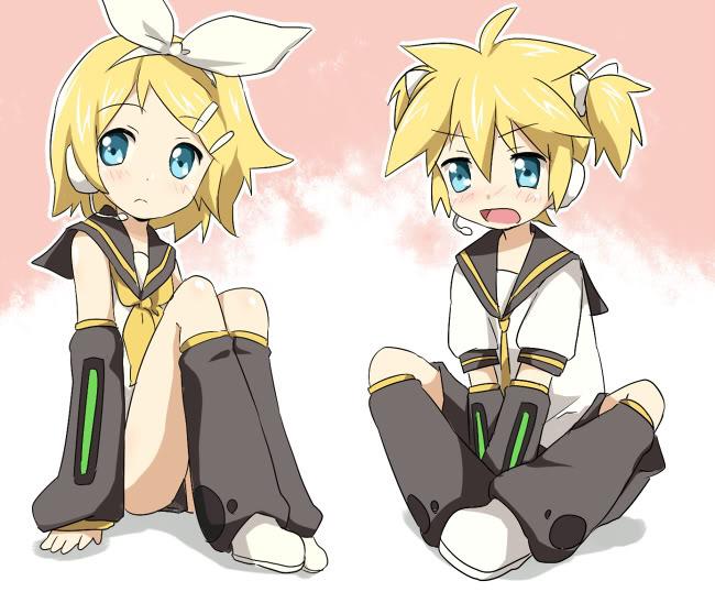 Vocaloid Chibi Rin y Len Neko Chibi Len And Rin Vocaloid Rin