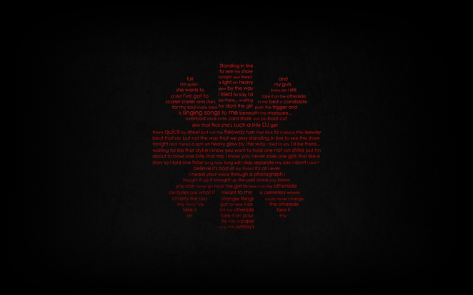 RHCP Typography Wallpaper