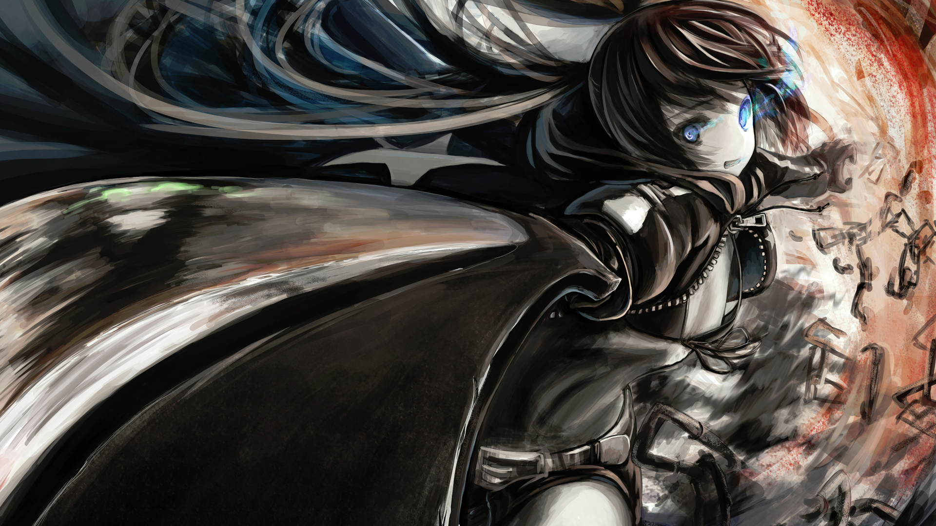 Black Rock Shooter 1080p Wallpaper From Shadow Of Death