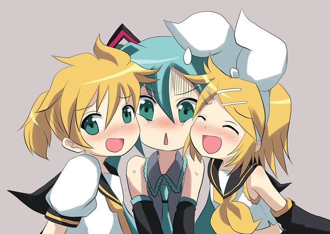 Len, Miku, and Me (Rin)