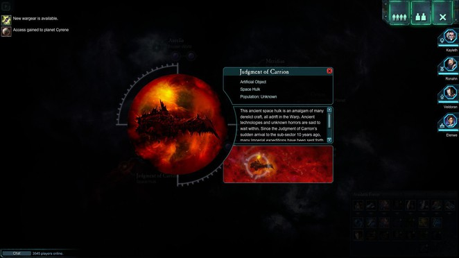 Dawn of War II: Retribution - Star Map