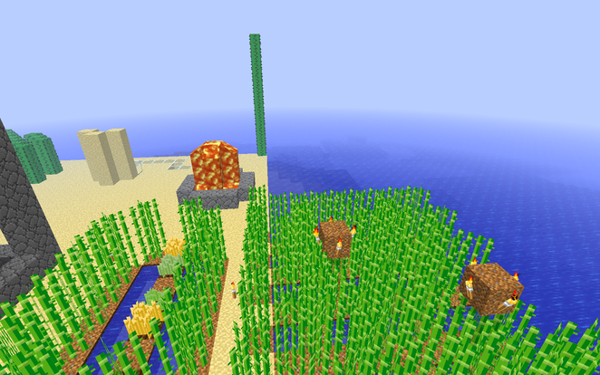 Reed Farms, Lava Fountain, Really tall cacti.