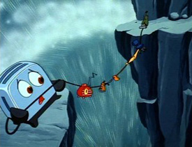 """The waterfall scene"" (The Brave Little Toaster)"