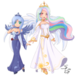 Anthropomorphized Princess Luna and Celestia