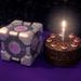 Companion Cube and Cake