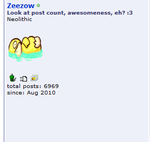 What an amazing post count... :3