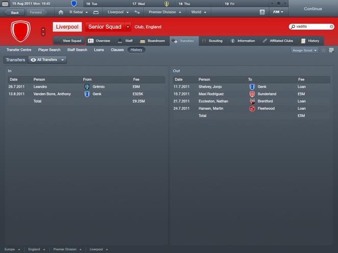 Liverpool first season transfers