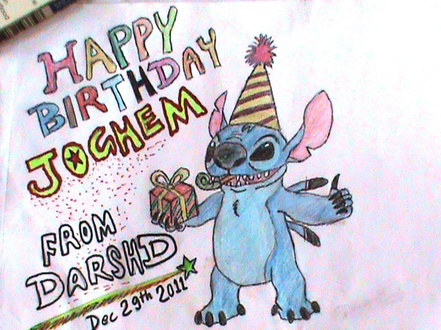 Happy Birthday to Jochem (Stitch @Neo)!