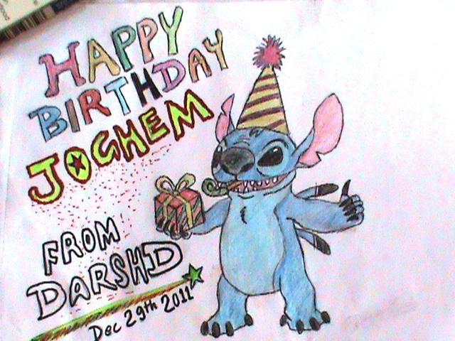 Happy Birthday to Jochem (Stitch @Neo)!