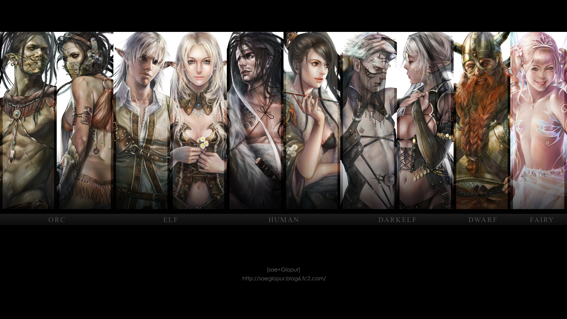 Lineage Fanart All Races 1080p from Shadow of Death  hosted by