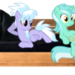 Cloudchaser & Lyra on a Bench