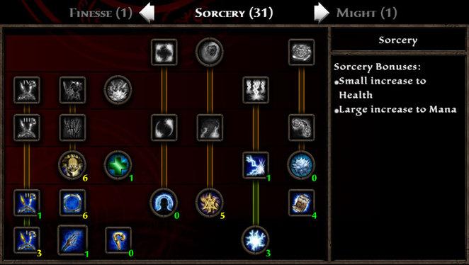 KoA - Shadia - Level 10 Sorcery Skills