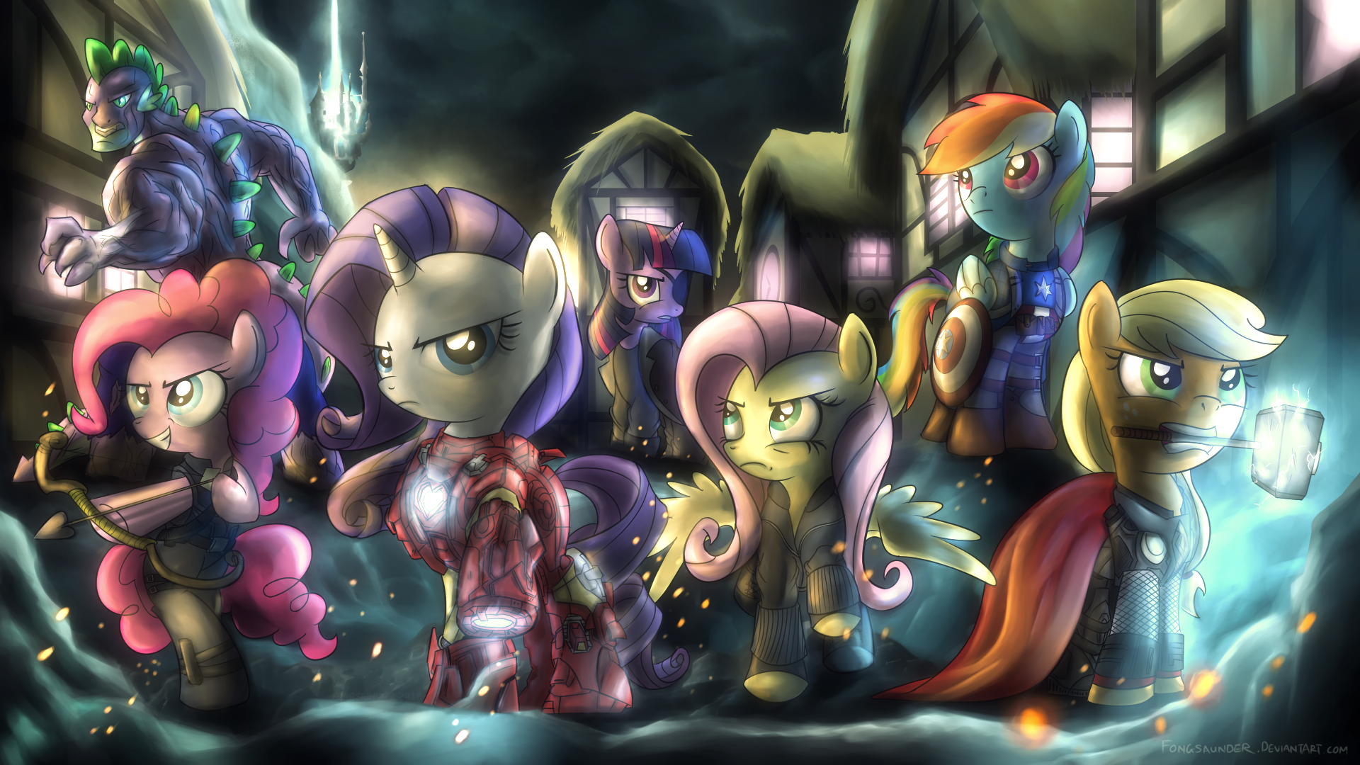 Mlp Mane Six Avengers Wallpaper 1080p From Shadow Of