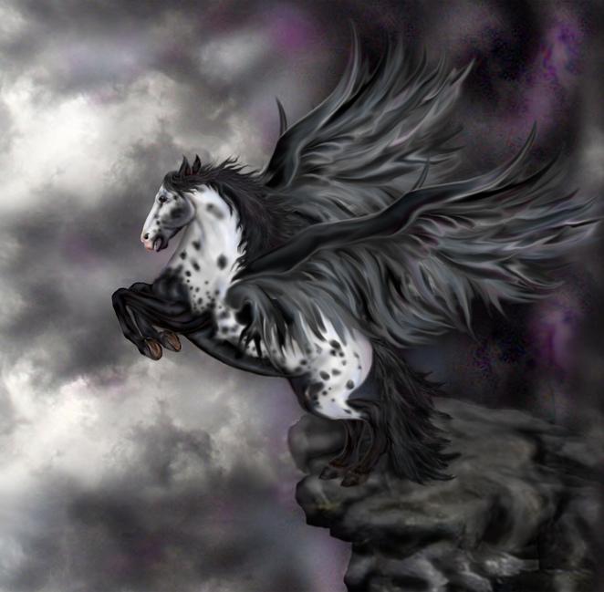 A dark pegasus.