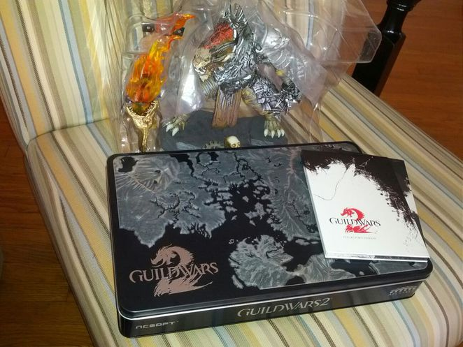 Guild Wars 2 Collector's Edition (on a chair)