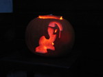 Nightmare Moon Pumpkin - Lit