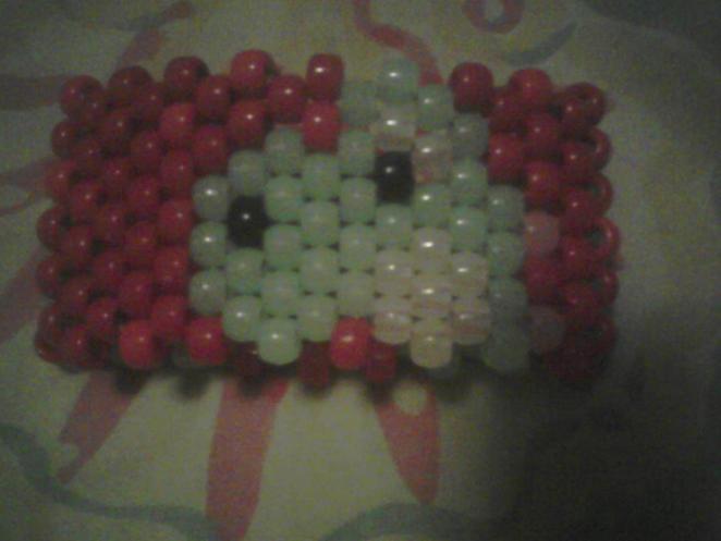 Front of glow in the dark Yoshi bracelet # 2.