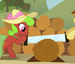 Braeburn and 'Cinnamon Sticks' (Unknown Pony)