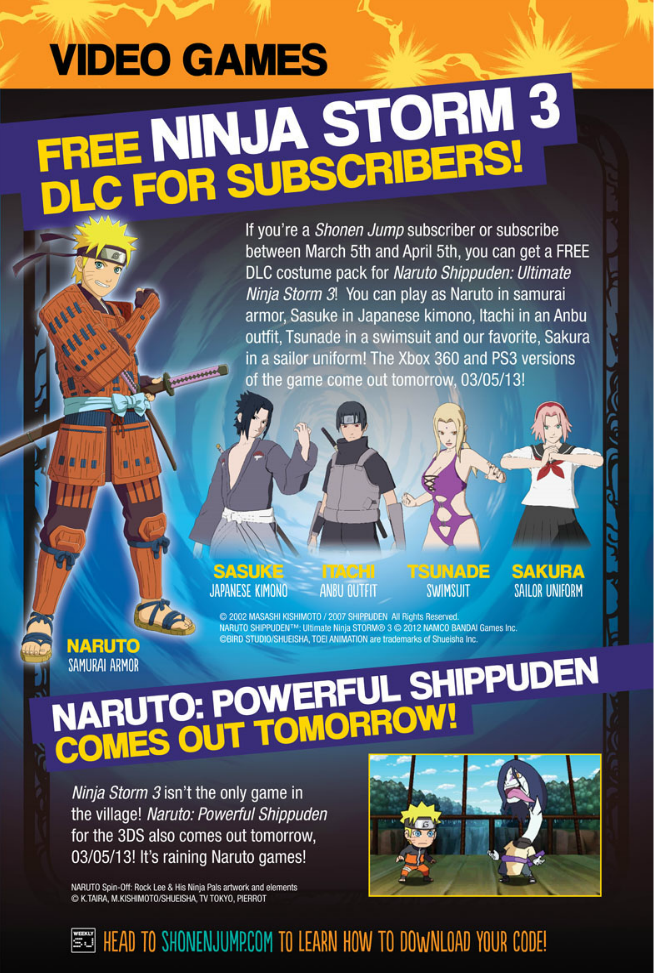 Storm 3 Shonen Jump/Neon Alley DLC info - Naruto Shippuden: Ultimate