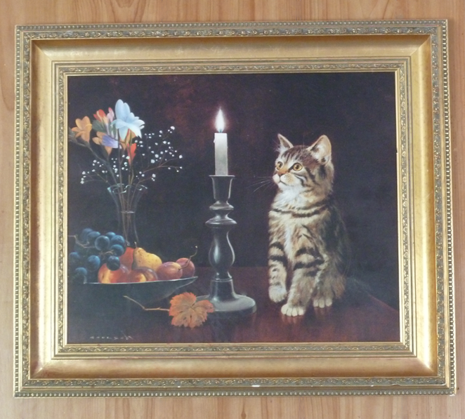 Cat vs. Candle Painting