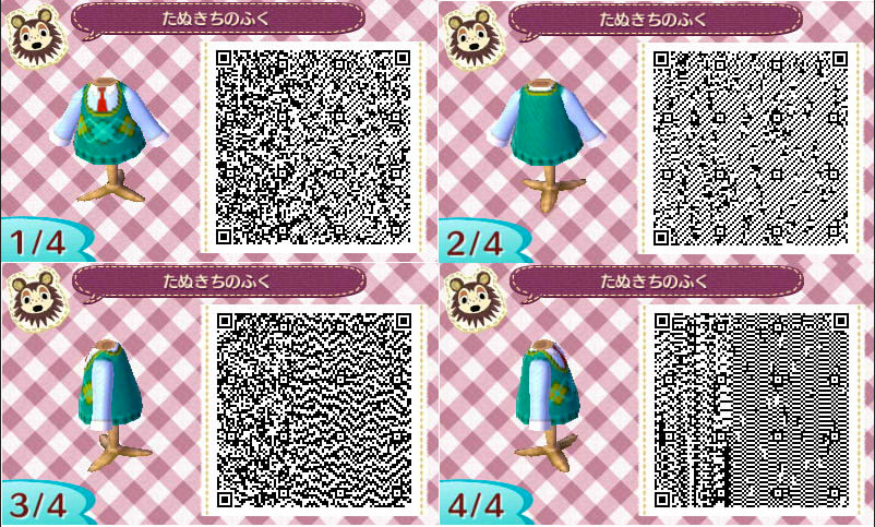 re: The QR Code Database - Page 4 - Animal Crossing: New Leaf Forum Qr Code Animal Crossing Happy Home Designer Clothing Html on