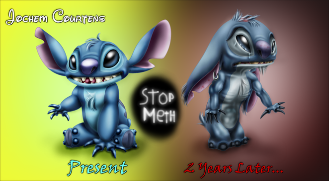 Stitch before and after Meth