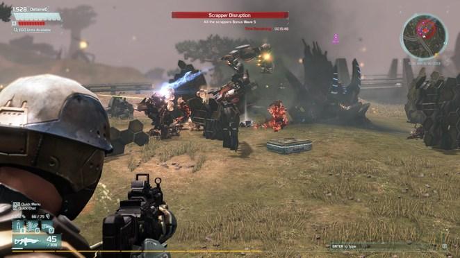 Big ass scorpion robots spewing fire? CHECK